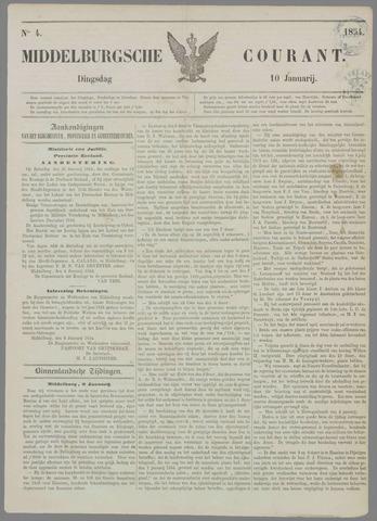 Middelburgsche Courant 1854-01-10