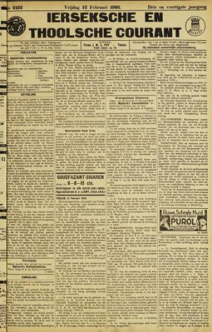 Ierseksche en Thoolsche Courant 1926-02-12