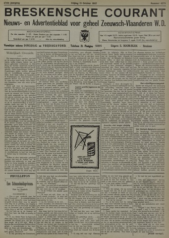 Breskensche Courant 1937-10-15