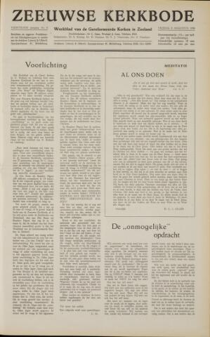 Zeeuwsche kerkbode, weekblad gewijd aan de belangen der gereformeerde kerken/ Zeeuwsch kerkblad 1958-08-08