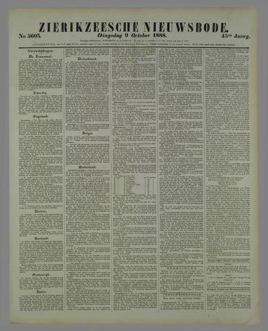 Zierikzeesche Nieuwsbode 1888-10-09