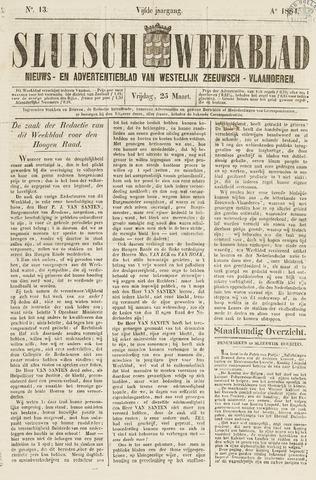 Sluisch Weekblad. Nieuws- en advertentieblad voor Westelijk Zeeuwsch-Vlaanderen 1864-03-25