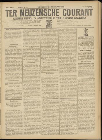 Ter Neuzensche Courant. Algemeen Nieuws- en Advertentieblad voor Zeeuwsch-Vlaanderen / Neuzensche Courant ... (idem) / (Algemeen) nieuws en advertentieblad voor Zeeuwsch-Vlaanderen 1936-02-26
