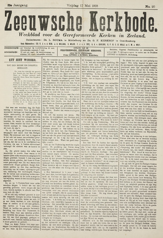 Zeeuwsche kerkbode, weekblad gewijd aan de belangen der gereformeerde kerken/ Zeeuwsch kerkblad 1918-05-17