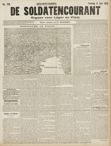 De Soldatencourant. Orgaan voor Leger en Vloot 1915-06-06