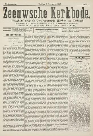Zeeuwsche kerkbode, weekblad gewijd aan de belangen der gereformeerde kerken/ Zeeuwsch kerkblad 1917-08-03