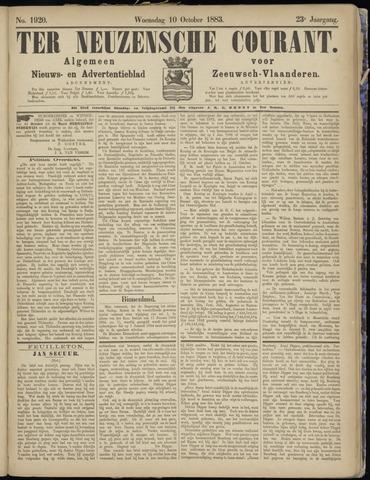 Ter Neuzensche Courant. Algemeen Nieuws- en Advertentieblad voor Zeeuwsch-Vlaanderen / Neuzensche Courant ... (idem) / (Algemeen) nieuws en advertentieblad voor Zeeuwsch-Vlaanderen 1883-10-10
