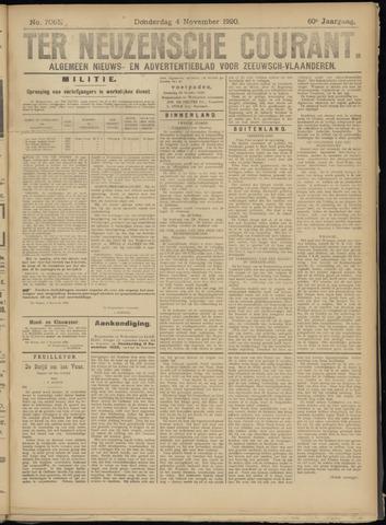 Ter Neuzensche Courant. Algemeen Nieuws- en Advertentieblad voor Zeeuwsch-Vlaanderen / Neuzensche Courant ... (idem) / (Algemeen) nieuws en advertentieblad voor Zeeuwsch-Vlaanderen 1920-11-04