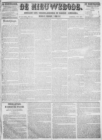 Sheboygan Nieuwsbode 1857-04-07