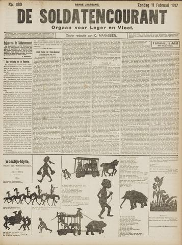 De Soldatencourant. Orgaan voor Leger en Vloot 1917-02-11