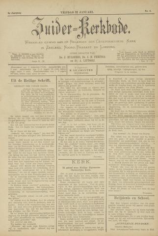 Zuider Kerkbode, Weekblad gewijd aan de belangen der gereformeerde kerken in Zeeland, Noord-Brabant en Limburg. 1897-01-22