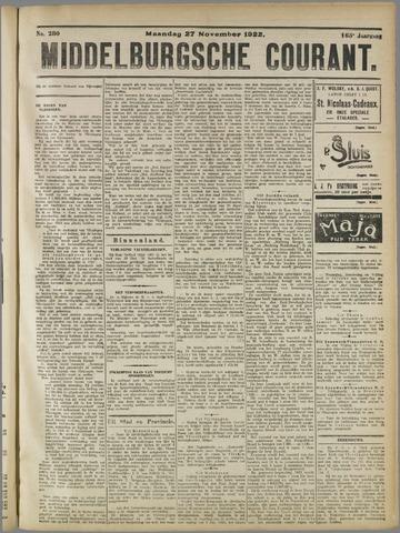 Middelburgsche Courant 1922-11-27