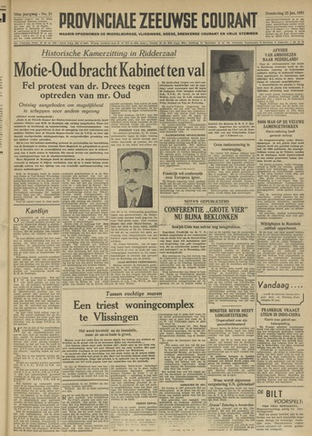 Provinciale Zeeuwse Courant 1951-01-25