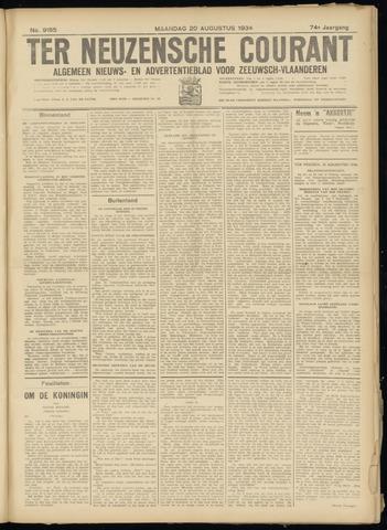 Ter Neuzensche Courant. Algemeen Nieuws- en Advertentieblad voor Zeeuwsch-Vlaanderen / Neuzensche Courant ... (idem) / (Algemeen) nieuws en advertentieblad voor Zeeuwsch-Vlaanderen 1934-08-20