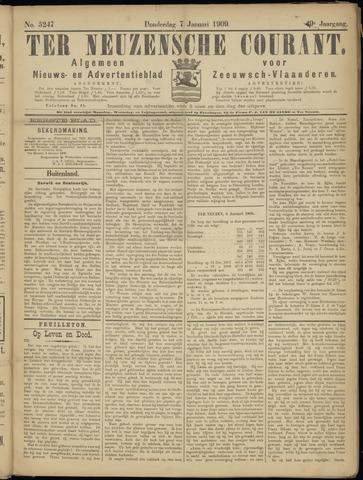 Ter Neuzensche Courant. Algemeen Nieuws- en Advertentieblad voor Zeeuwsch-Vlaanderen / Neuzensche Courant ... (idem) / (Algemeen) nieuws en advertentieblad voor Zeeuwsch-Vlaanderen 1909-01-07