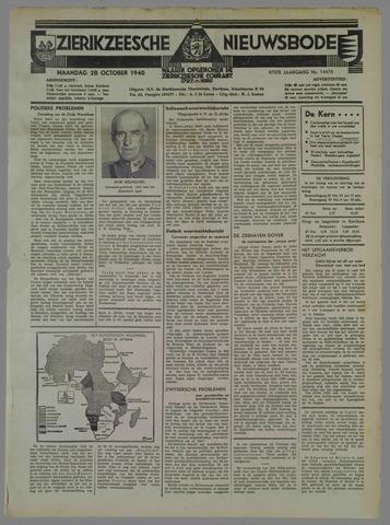Zierikzeesche Nieuwsbode 1940-10-28