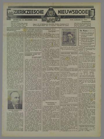 Zierikzeesche Nieuwsbode 1940-12-14