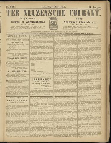Ter Neuzensche Courant. Algemeen Nieuws- en Advertentieblad voor Zeeuwsch-Vlaanderen / Neuzensche Courant ... (idem) / (Algemeen) nieuws en advertentieblad voor Zeeuwsch-Vlaanderen 1897-03-04