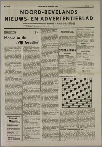 Noord-Bevelands Nieuws- en advertentieblad 1983-09-15
