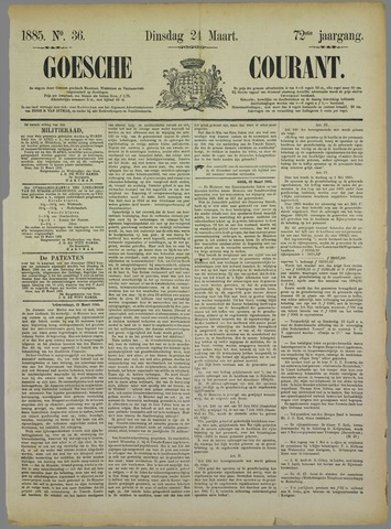 Goessche Courant 1885-03-24