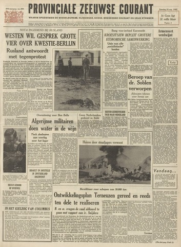 Provinciale Zeeuwse Courant 1962-08-25