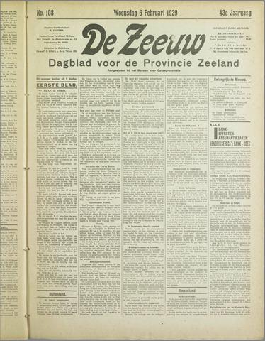 De Zeeuw. Christelijk-historisch nieuwsblad voor Zeeland 1929-02-06