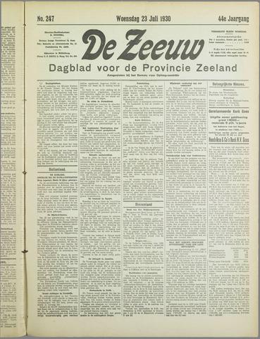 De Zeeuw. Christelijk-historisch nieuwsblad voor Zeeland 1930-07-23