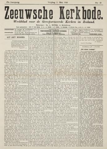 Zeeuwsche kerkbode, weekblad gewijd aan de belangen der gereformeerde kerken/ Zeeuwsch kerkblad 1923-05-11