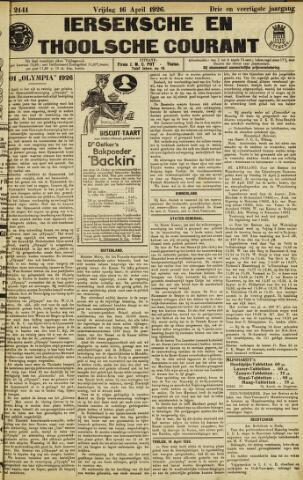Ierseksche en Thoolsche Courant 1926-04-16