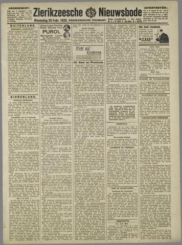 Zierikzeesche Nieuwsbode 1925-02-25