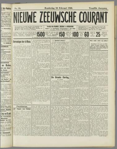 Nieuwe Zeeuwsche Courant 1916-02-10