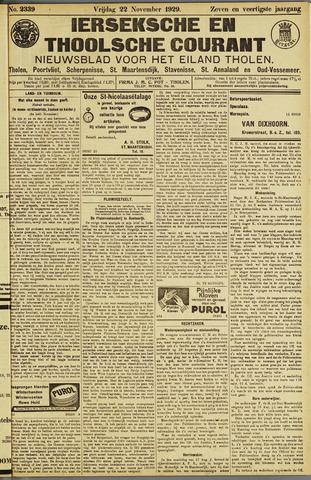 Ierseksche en Thoolsche Courant 1929-11-22