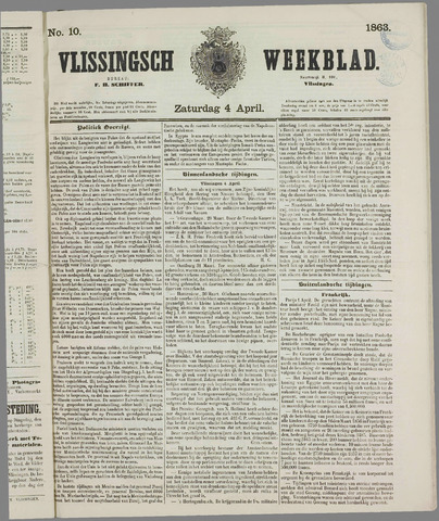 Vlissings Weekblad 1863-04-04