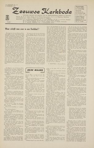 Zeeuwsche kerkbode, weekblad gewijd aan de belangen der gereformeerde kerken/ Zeeuwsch kerkblad 1964-02-28