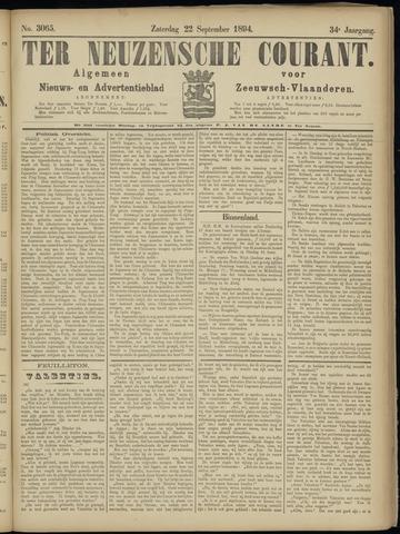 Ter Neuzensche Courant. Algemeen Nieuws- en Advertentieblad voor Zeeuwsch-Vlaanderen / Neuzensche Courant ... (idem) / (Algemeen) nieuws en advertentieblad voor Zeeuwsch-Vlaanderen 1894-09-22