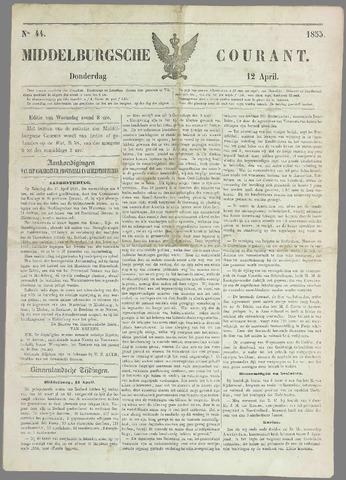 Middelburgsche Courant 1855-04-12