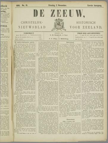 De Zeeuw. Christelijk-historisch nieuwsblad voor Zeeland 1886-11-02