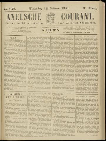 Axelsche Courant 1892-10-12