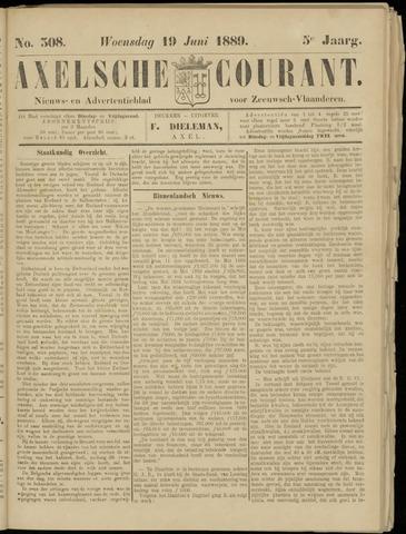 Axelsche Courant 1889-06-19