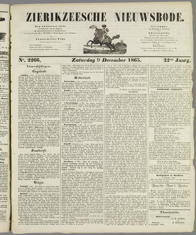 Zierikzeesche Nieuwsbode 1865-12-09