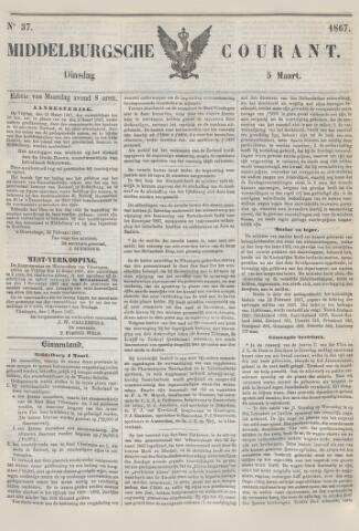 Middelburgsche Courant 1867-03-05