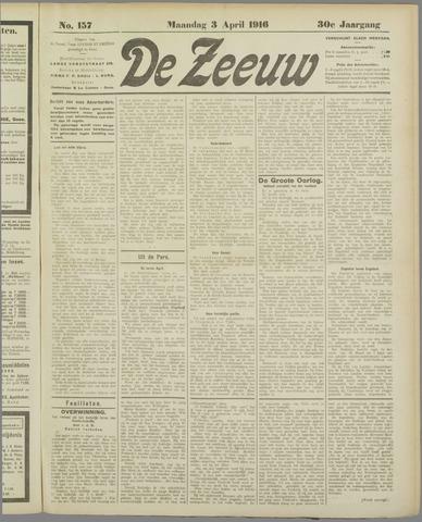 De Zeeuw. Christelijk-historisch nieuwsblad voor Zeeland 1916-04-03