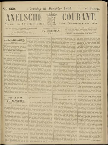 Axelsche Courant 1892-12-21