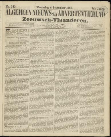 Ter Neuzensche Courant. Algemeen Nieuws- en Advertentieblad voor Zeeuwsch-Vlaanderen / Neuzensche Courant ... (idem) / (Algemeen) nieuws en advertentieblad voor Zeeuwsch-Vlaanderen 1867-09-04