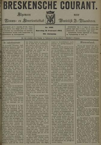 Breskensche Courant 1914-02-21
