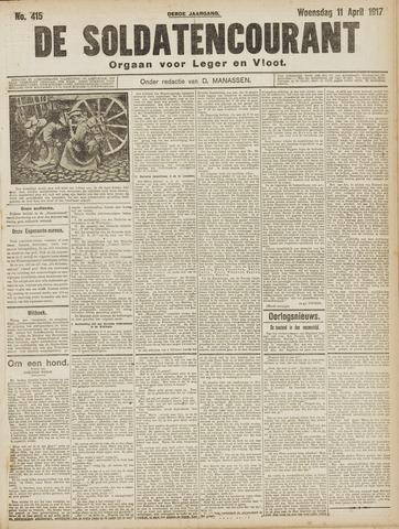 De Soldatencourant. Orgaan voor Leger en Vloot 1917-04-11