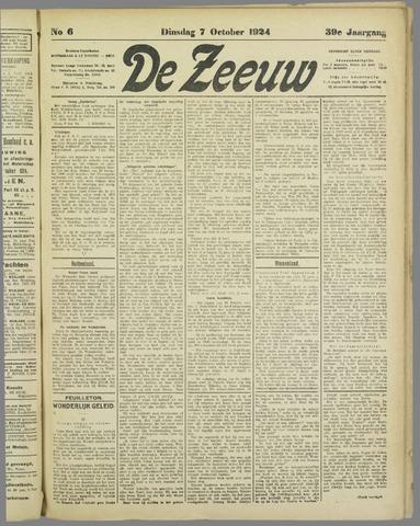 De Zeeuw. Christelijk-historisch nieuwsblad voor Zeeland 1924-10-07