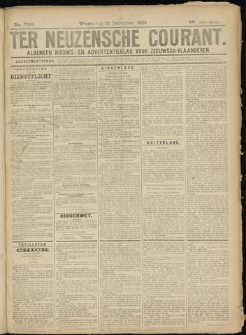 Ter Neuzensche Courant. Algemeen Nieuws- en Advertentieblad voor Zeeuwsch-Vlaanderen / Neuzensche Courant ... (idem) / (Algemeen) nieuws en advertentieblad voor Zeeuwsch-Vlaanderen 1924-12-10