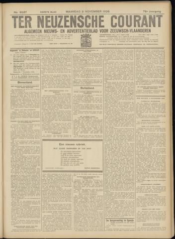 Ter Neuzensche Courant. Algemeen Nieuws- en Advertentieblad voor Zeeuwsch-Vlaanderen / Neuzensche Courant ... (idem) / (Algemeen) nieuws en advertentieblad voor Zeeuwsch-Vlaanderen 1936-11-09