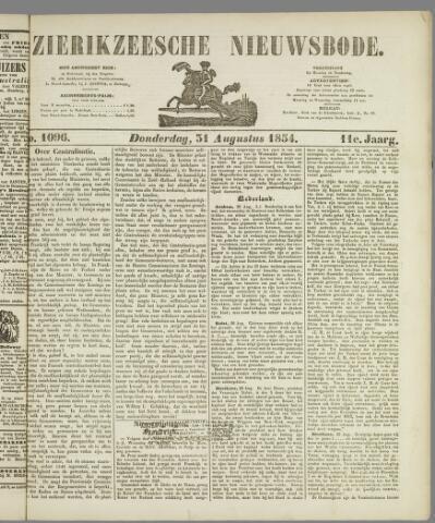 Zierikzeesche Nieuwsbode 1854-08-31